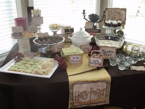 harry potter table l harry potter birthday party my fairytale in progress