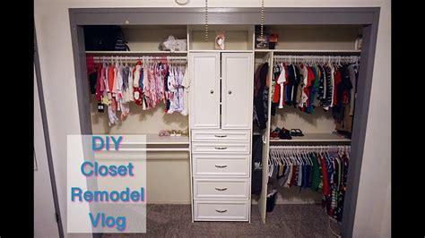 Closet Renovations by Diy Closet Remodel Vlog