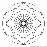 Circle Coloring Star Mandala Printable Designs Mandalas Geometric Simple Coloringpages101 Various Pdf Easy Salvo sketch template