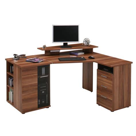 bureau d angle pour ordinateur g 228 vle imitation noyer