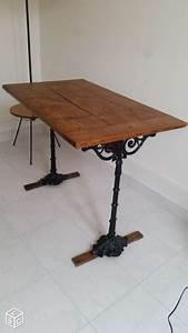 Table Bistrot Ancienne : table de bistrot ancienne en bois et fonte 1900 ameublement paris bathroom ~ Melissatoandfro.com Idées de Décoration