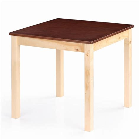 solid wood activity table ikayaa cute wooden table kids table solid pine wood square