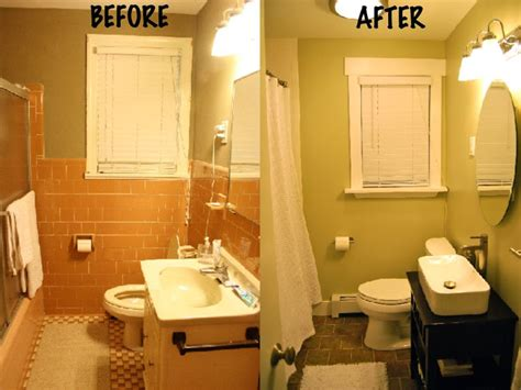 Before And After Small Bathrooms by Small Bathroom Makeovers Before And After Pictures
