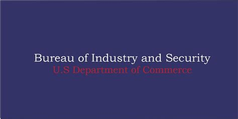 bureau of industry security federal government export controls grand valley state