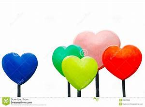 Colorful Hearts Sculpture Isolated Royalty Free Stock ...