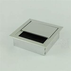Desk wire grommet flip open aluminum 3quot 80mm table top for 1 furniture hole cover
