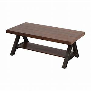 60 off west elm west elm wood and metal coffee table With west elm plank coffee table