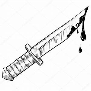 Bloody knife sketch — Stock Vector © lhfgraphics #14136032