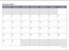 Baixe o calendário mensal de outubro de 2017 1 2019