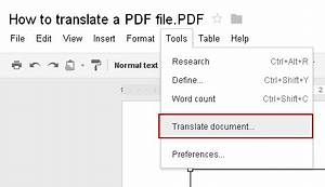 how to translate pdf documents without learning another With translate documents google docs