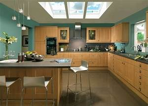 contrasting kitchen wall colors 15 cool color ideas With kitchen colors with white cabinets with 70s retro wall art