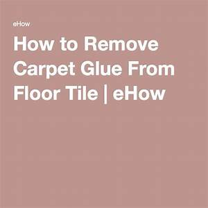 How to remove carpet glue from floor tile carpets for How to remove rust stains from concrete floor