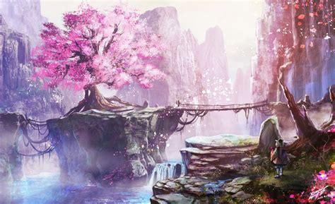 Anime, Filles Anime, Fleur De Cerisier, Art