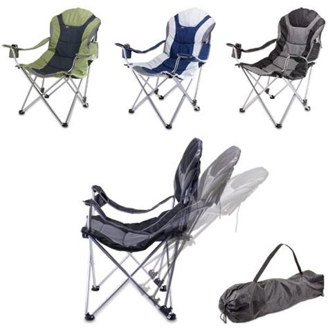 Picnic Time Reclining C Chair Outdoor by Picnic Time Reclining C Chair Black And Gray