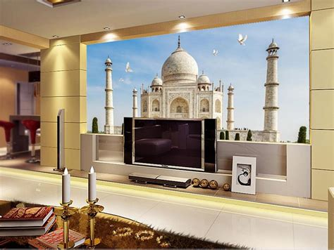wallpaper custom photo mural  woven taj mahal india