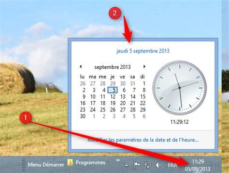 afficher horloge sur bureau afficher l horloge sur le bureau 28 images