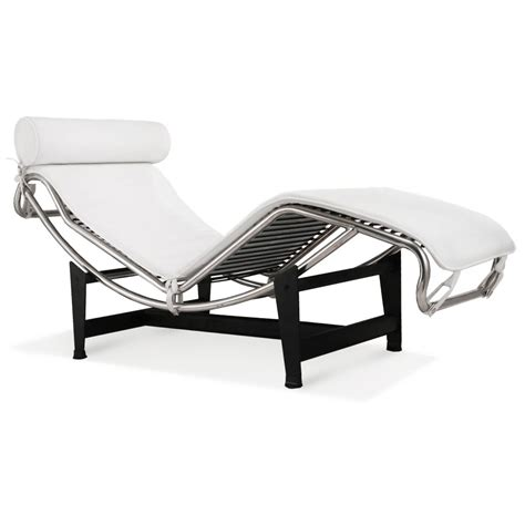 chaise original le corbusier la chaise chair lc4 chaise lounge white
