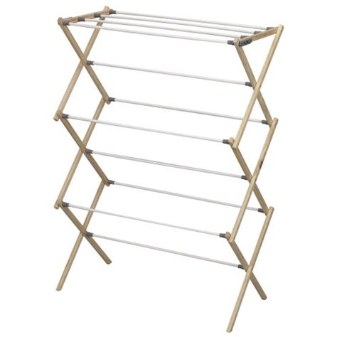 wooden clothes drying rack household essentials folding pine wood clothes drying rack new