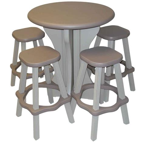 leisure accents taupe 5 patio bistro set laptbs t