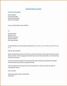 Proper Standard Formal Samples of Business Letter Format