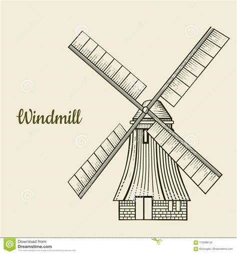 87 Windmill Technical Drawing Wind Powered Factories
