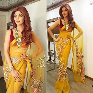 Shilpa Shetty all smiles in Manish Malhotra Saree