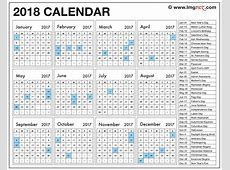 2018 Calendar With Holidays Pdf 2018 printable calendar