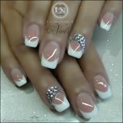 Wedding French Acrylic Nails