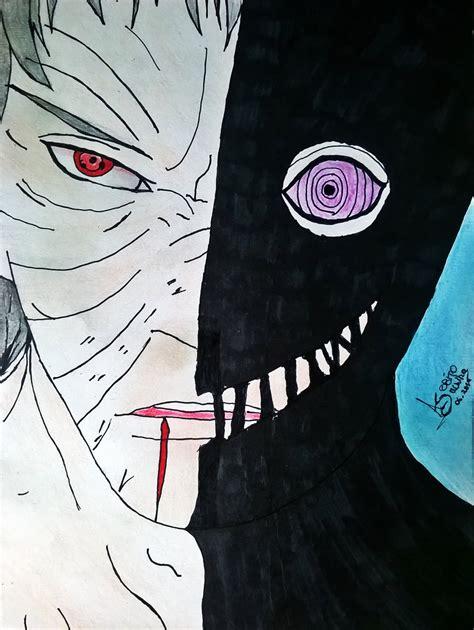 naruto shippuden obito uchiha drawings