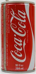 COC01-COL-284-CA-1981 Coca Cola Regular Coke Can with test ...