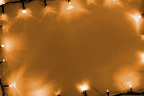 image  frame  halloween lights   orange background