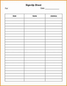7 editable printable sign up sheet pandora squared With editable sign in sheet template