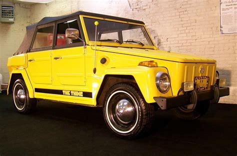 volkswagen thing yellow volkswagen thing 1974 cartype