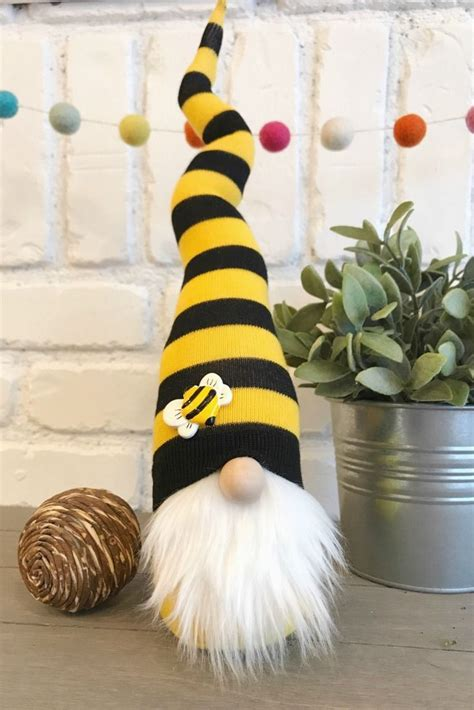 adorable bumble bee gnome   great addition
