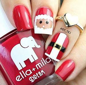15 Christmas Gel Nails Art Designs & Ideas 2016