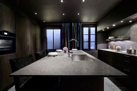 cuisine contemporaine ilot central cuisine en bois moderne et traditionnelle