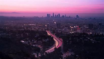 Angeles Los Sunset Aerial Road States United