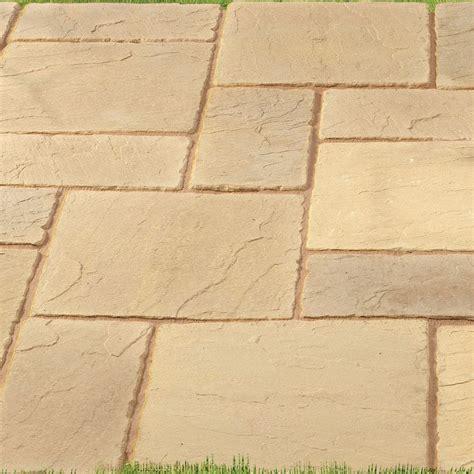 sandstone paving patterns pavestone fairford range stone paving slabs paving superstore