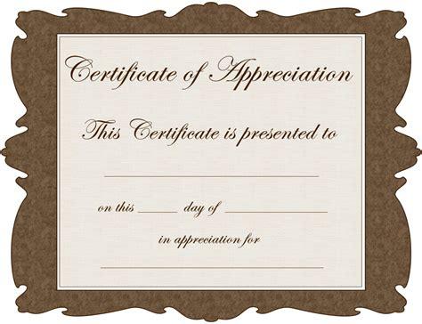 volunteer recognition certificate templates  templates