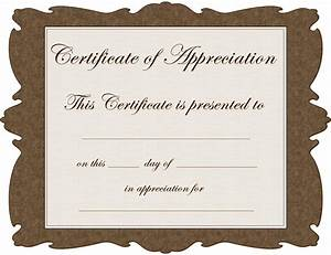 8 best images of free blank certificate appreciation for Free certificate of appreciation template downloads