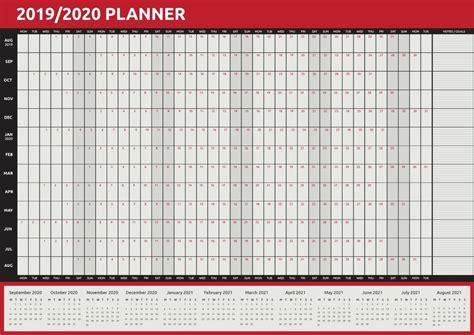 size year wall planner calendar home office work