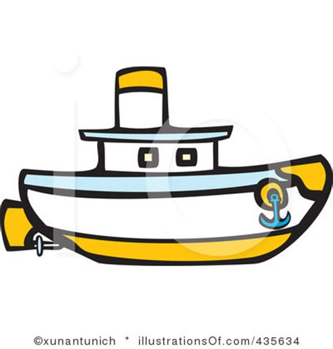 Tugboat Outline by Small Boat Clipart 67