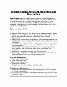 Medical Assistant Job Description Resume The Best Letter