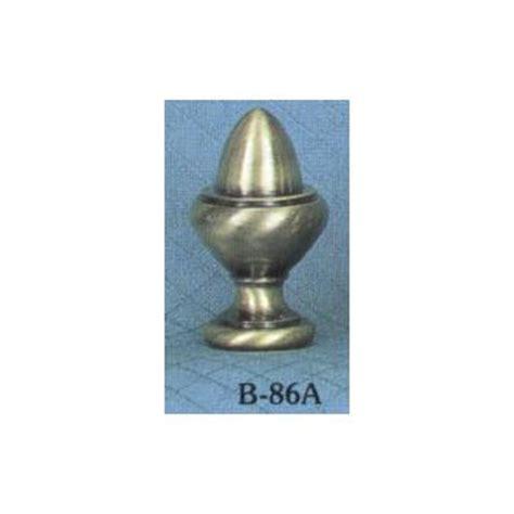 solid brass antiqued acorn l finial finials