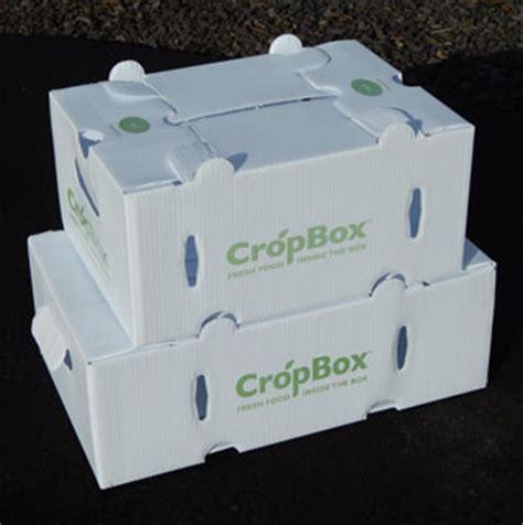 csa produce shipping boxes sealed fluted corrugated plastic