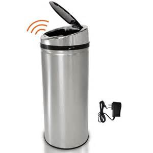 Kitchen Faucets Touch Technology Itouchless 8 Gal Stainless Steel Motion Sensing Touchless Trash Can It08rcb The Home Depot