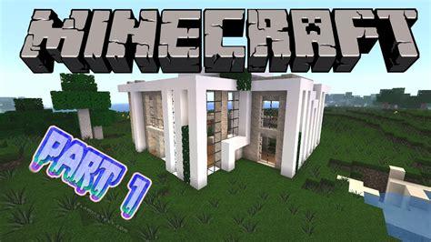 Minecraft  Modernes Haus Bauen #3 [deutschgerman] Part 1