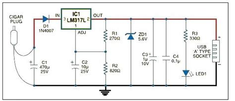 Usb Car Charger Adapter Circuit Design Using