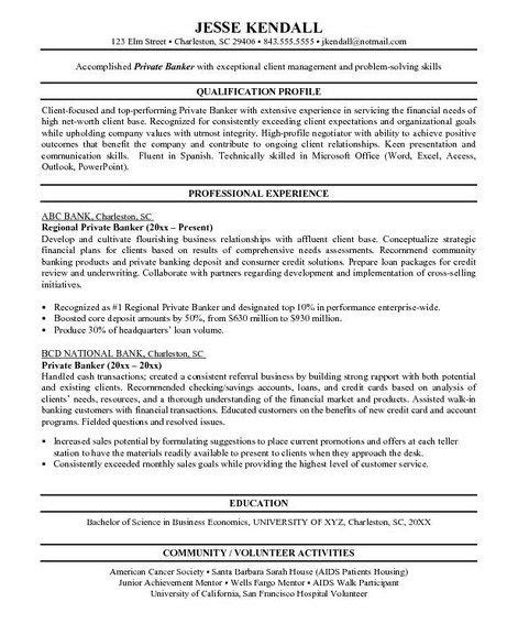 Personal Banker Objective by Pin By Resume On Resume Sles Resume