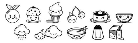 kawaii coloring pages  foods adult coloring food coloring pages doodle coloring coloring